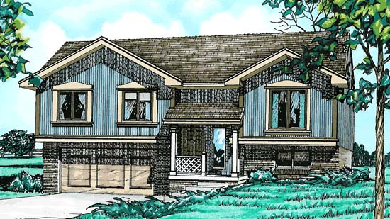 Traditional , Elevation of Plan 97916