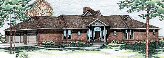 Traditional House Plan 97917 Elevation
