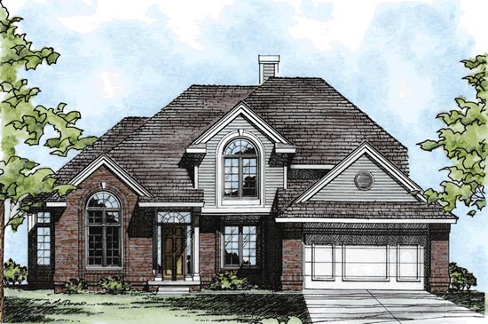 European House Plan 97918 Elevation