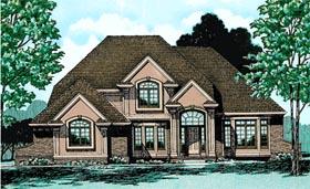 Colonial European House Plan 97919 Elevation