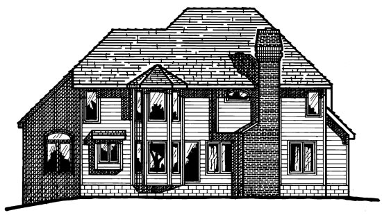 Colonial European House Plan 97919 Rear Elevation