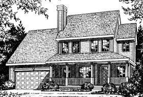 Country , Traditional House Plan 97926 with 3 Beds, 3 Baths, 2 Car Garage Elevation