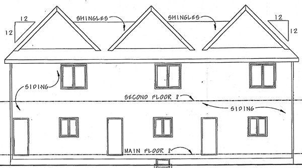 Bungalow Country Multi-Family Plan 97928 Rear Elevation