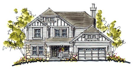 Bungalow, Craftsman House Plan 97931 with 4 Beds , 3 Baths , 2 Car Garage Elevation