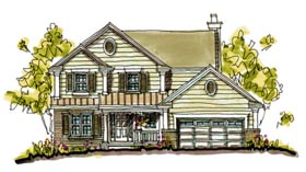 Bungalow , Country House Plan 97932 with 4 Beds, 3 Baths, 2 Car Garage Elevation