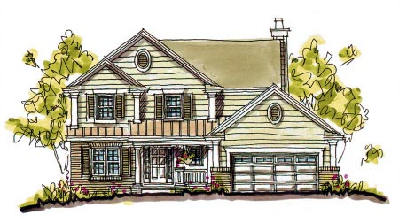 Bungalow Country House Plan 97932 Elevation