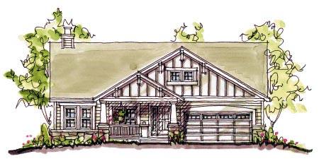 Bungalow Craftsman House Plan 97933 Elevation