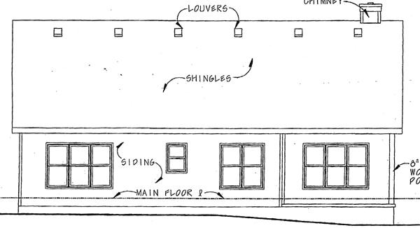 Bungalow Craftsman House Plan 97933 Rear Elevation