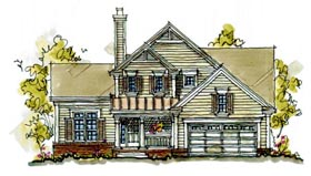 Bungalow Country House Plan 97934 Elevation