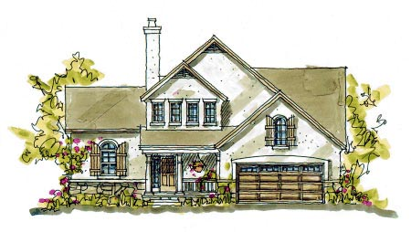 Bungalow Country House Plan 97935 Elevation