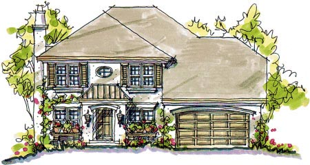 European House Plan 97938 Elevation