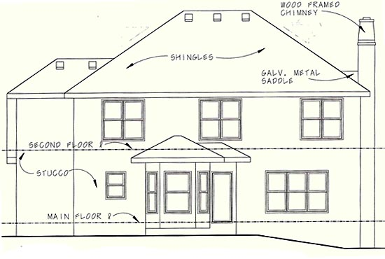 European House Plan 97938 Rear Elevation