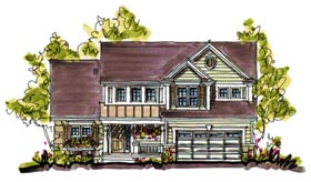 Bungalow , Country House Plan 97940 with 4 Beds, 3 Baths, 2 Car Garage Elevation