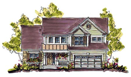 Bungalow, Country House Plan 97940 with 4 Beds, 3 Baths, 2 Car Garage Elevation