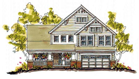 Bungalow Country Craftsman House Plan 97942 Elevation