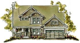 Bungalow Country Craftsman House Plan 97944 Elevation