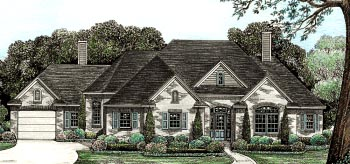 European House Plan 97945 Elevation