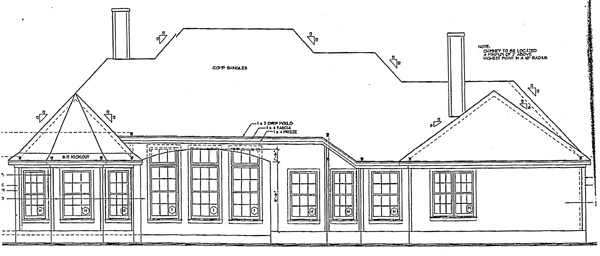 European House Plan 97945 Rear Elevation