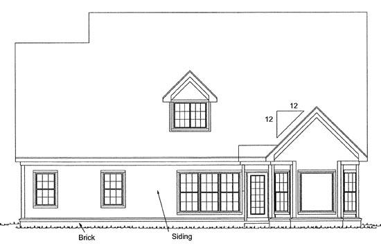 Traditional House Plan 97946 Rear Elevation