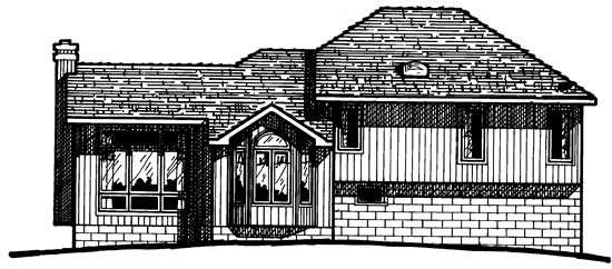 Country European House Plan 97949 Rear Elevation