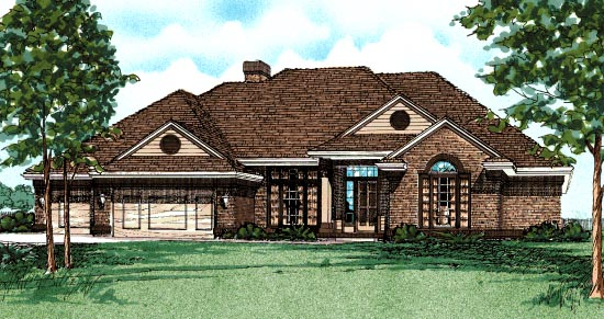 European Traditional House Plan 97953 Elevation