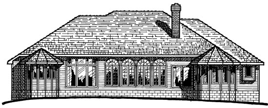 European Traditional House Plan 97953 Rear Elevation