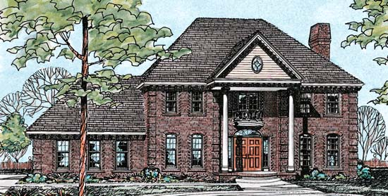 Colonial House Plan 97957 Elevation