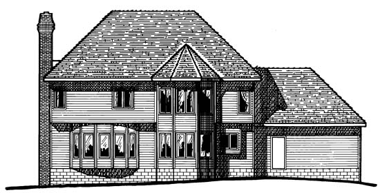 Colonial House Plan 97957 Rear Elevation