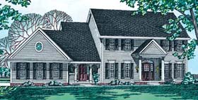 Colonial House Plan 97958 Elevation