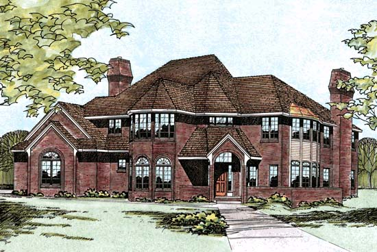 House Plan 97961 | Victorian Style Plan with 3407 Sq Ft, 4 Bedrooms, 3 Bathrooms, 3 Car Garage Elevation