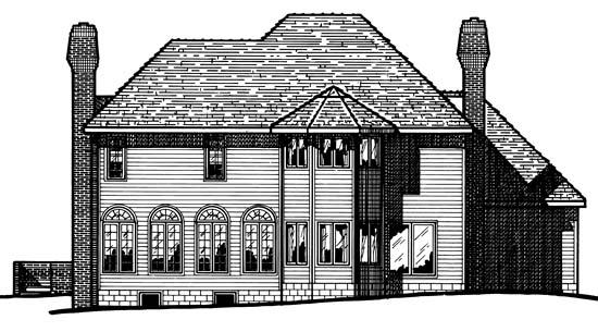 Victorian House Plan 97961 Rear Elevation