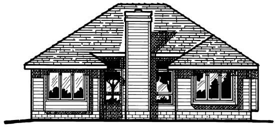Traditional House Plan 97968 Rear Elevation