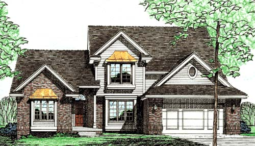 Country European Traditional House Plan 97970 Elevation