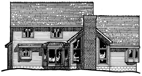 Country European Traditional House Plan 97970 Rear Elevation