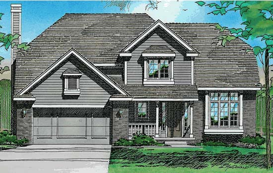 Country European House Plan 97971 Elevation