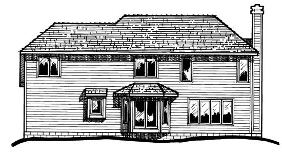 Country European House Plan 97971 Rear Elevation