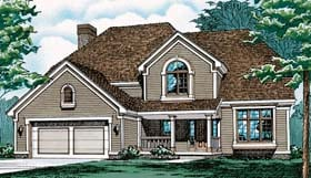 Country European House Plan 97972 Elevation