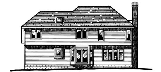 Country European House Plan 97972 Rear Elevation