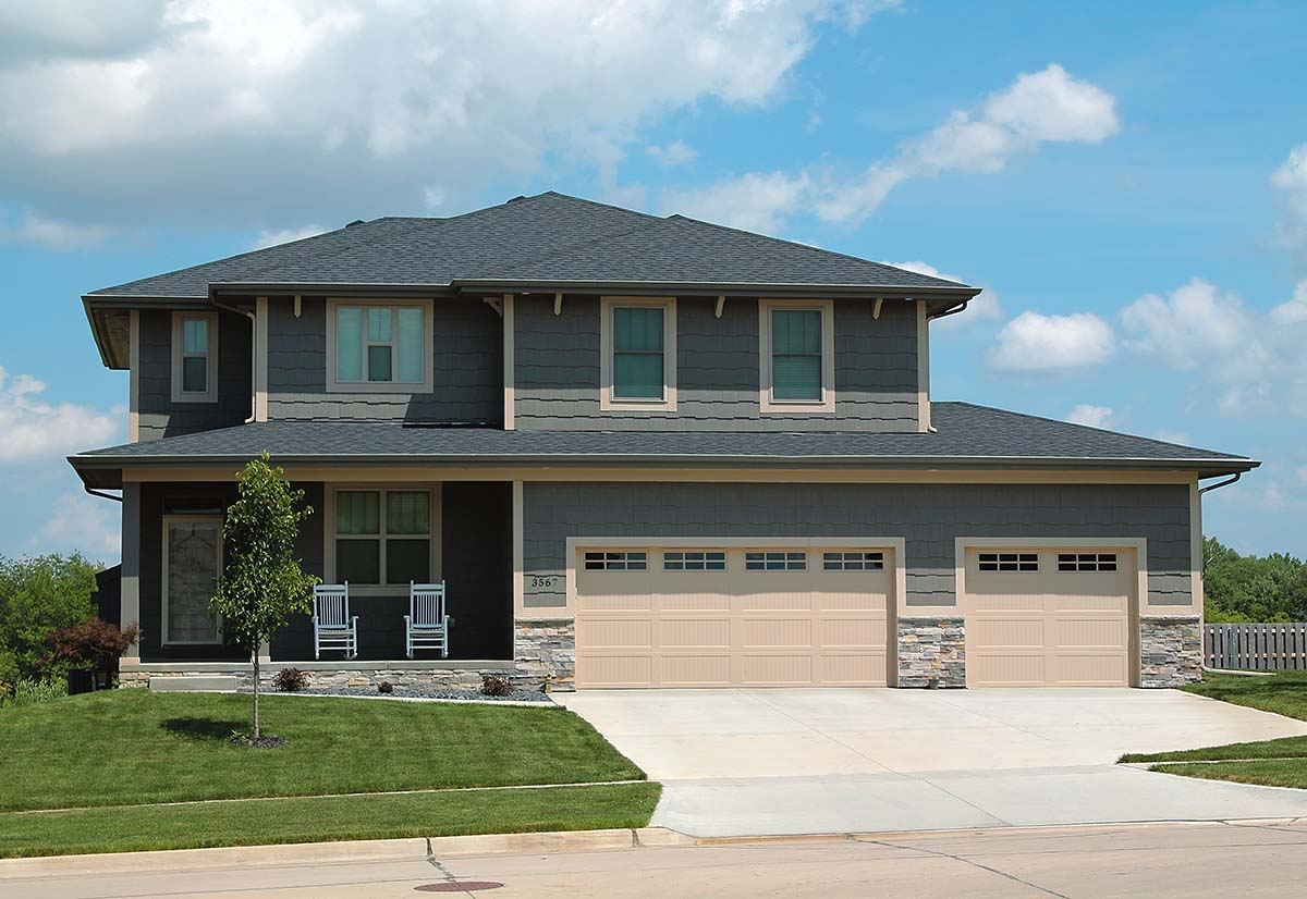 Craftsman House Plan 97974 with 4 Beds, 3 Baths, 2 Car Garage Elevation