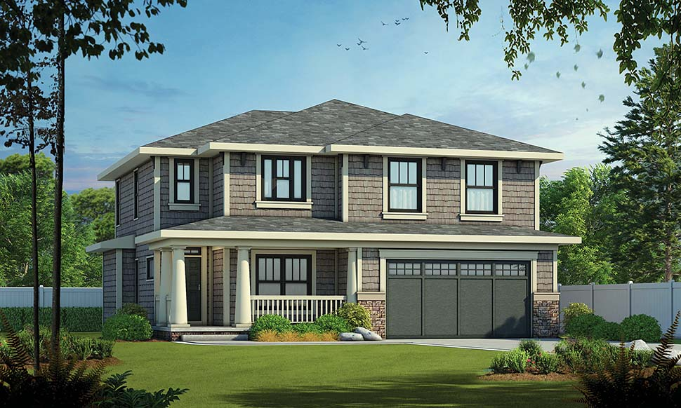 Craftsman House Plan 97974 with 4 Beds, 3 Baths, 2 Car Garage Picture 3