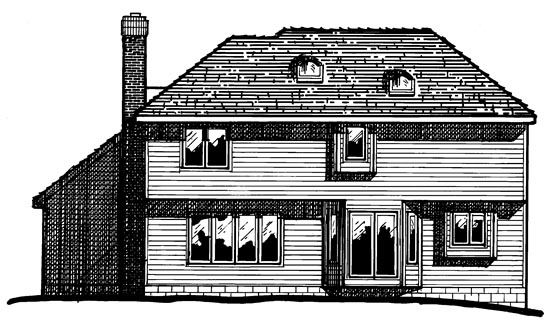 Country House Plan 97979 Rear Elevation