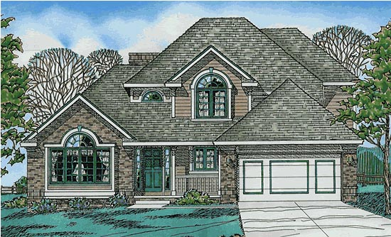 European House Plan 97981 Elevation