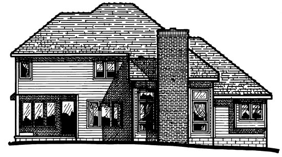 European House Plan 97981 Rear Elevation