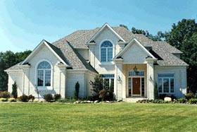 House Plan 97983 | Style Plan with 3160 Sq Ft, 4 Bedrooms, 19 Bathrooms, 3 Car Garage Elevation