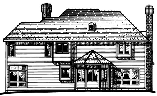 House Plan 97983 Rear Elevation