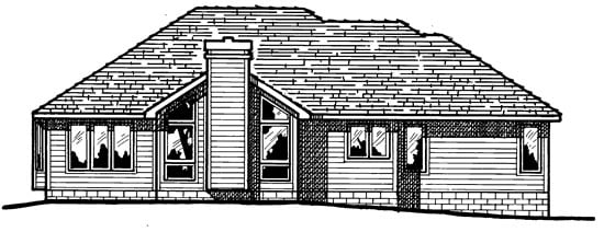 Traditional House Plan 97989 Rear Elevation