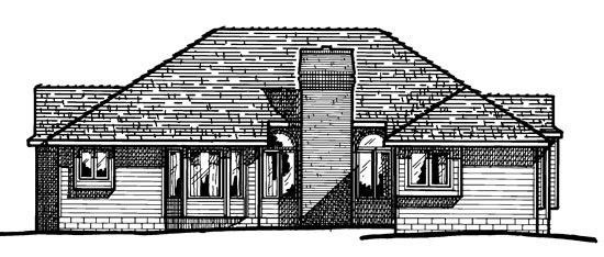 Traditional House Plan 97994 Rear Elevation