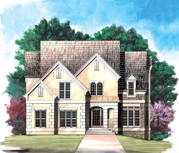 European House Plan 98202 Elevation