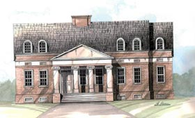 Colonial European House Plan 98203 Elevation