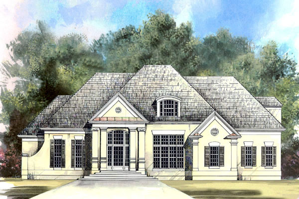 European House Plan 98209 with 4 Beds, 4 Baths, 2 Car Garage Elevation